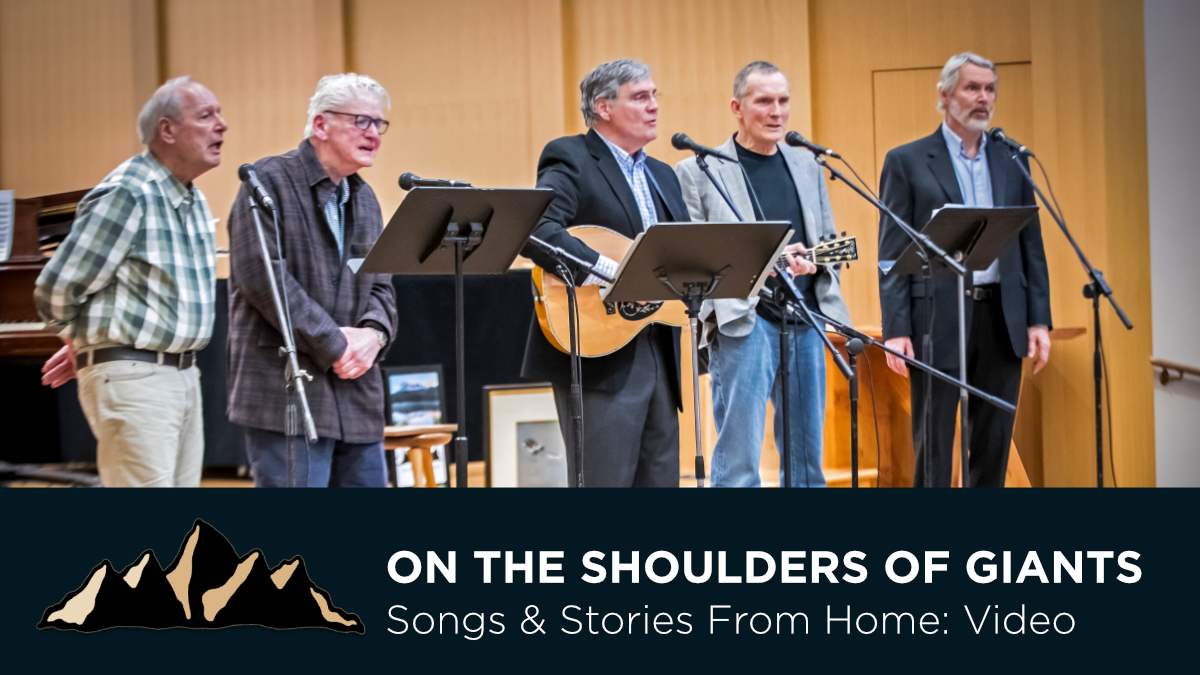 Graduation Celebration Part Five - On The Shoulders of Giants ~ Songs & Stories From Home Episode 13 ~ Mark Pearson Music