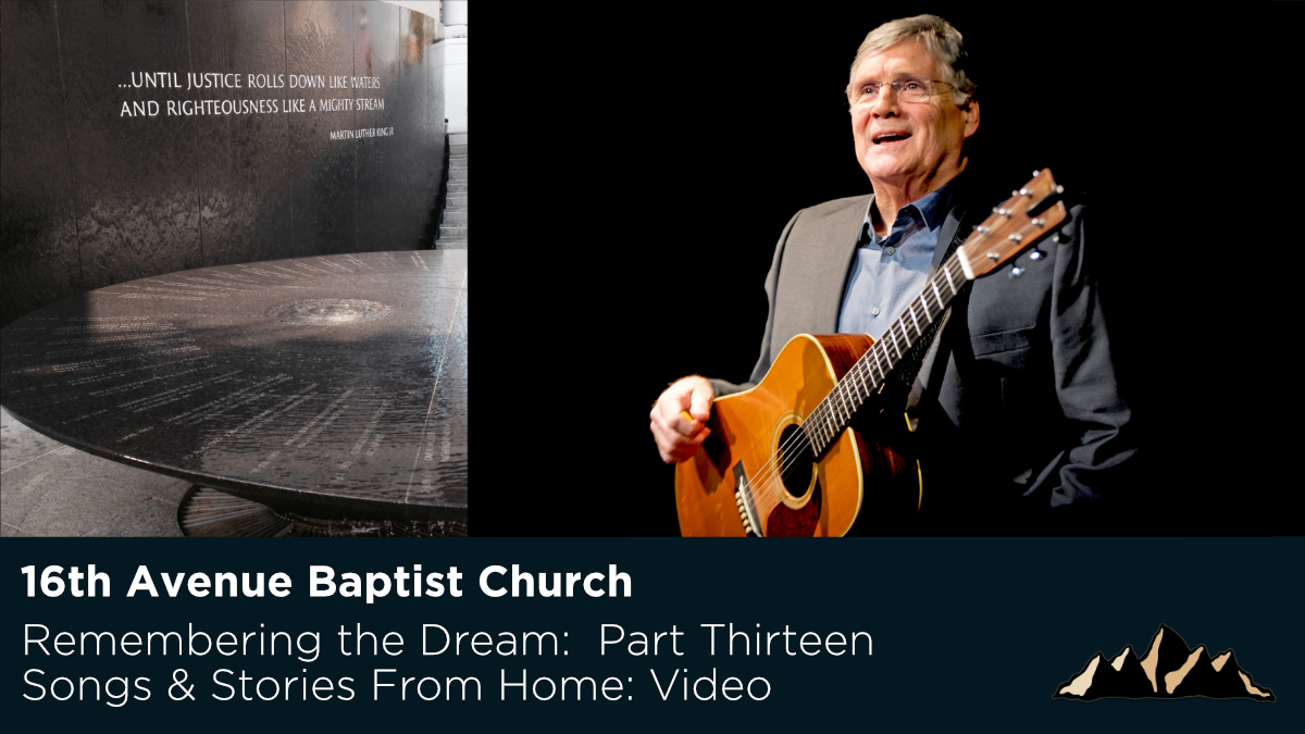 16th Avenue Baptist Church ~ Songs & Stories From Home Episode 48 ~ Mark Pearson Music