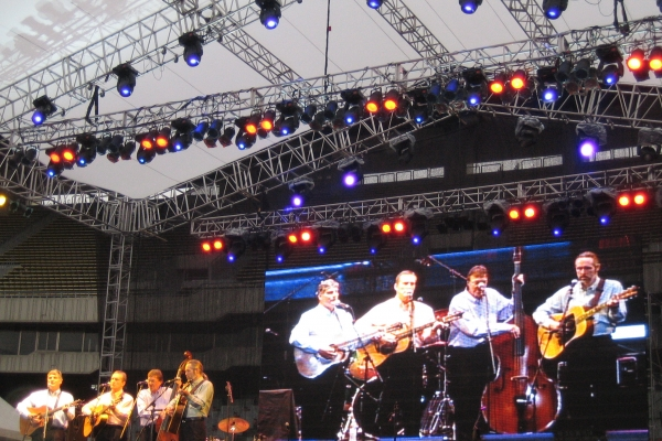 Singing at a festival in Olympic Stadium in Seoul