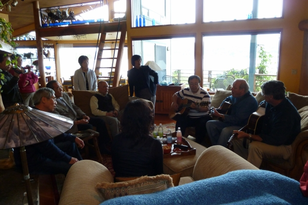 Making music at John and Gail's in Port Ludlow