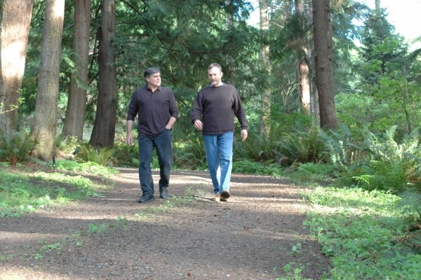 Pearson and McCoy in the Woods