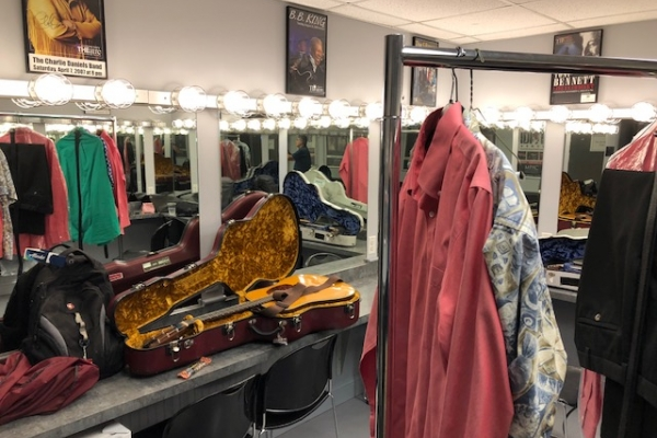 Dressing room before the show