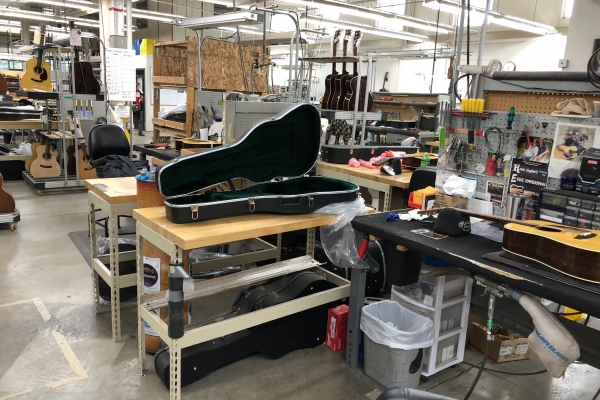 Work Benches in the Martin Guitar Factory