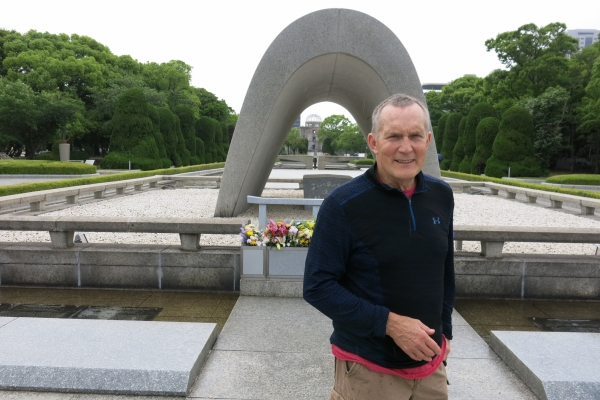 McCoy at Peace Park in Hiroshima